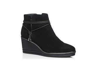 Schoenen Pantas Softwaves laarsje met sleehak zwart