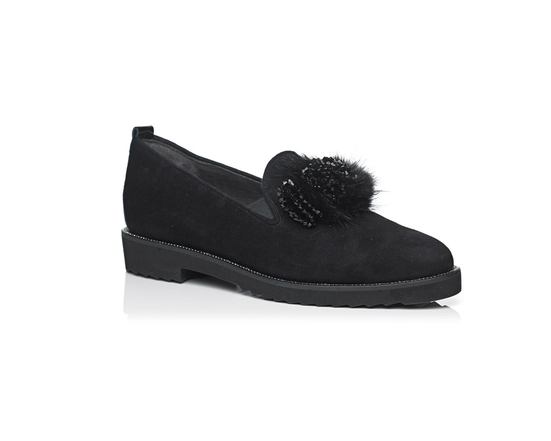 Schoenen Pantas Softwaves platte schoen zwart (3)