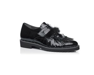 Schoenen Pantas Softwaves platte schoen zwart