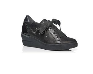 Schoenen Pantas Softwaves veterschoen zwart met sleehak (2)