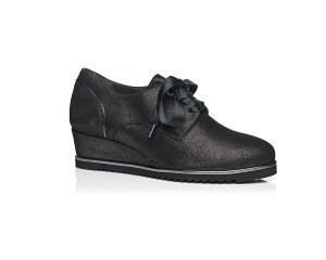 Schoenen Pantas Softwaves veterschoen zwart met sleehak