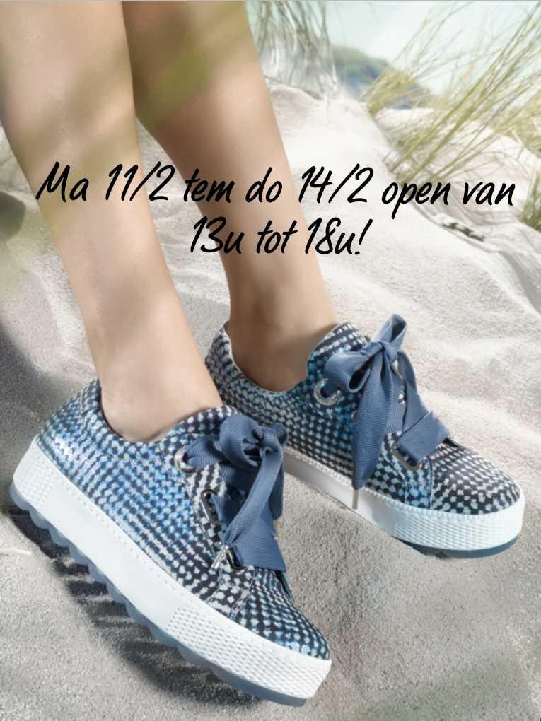 Schoenen Pantas aangepaste openingstijden