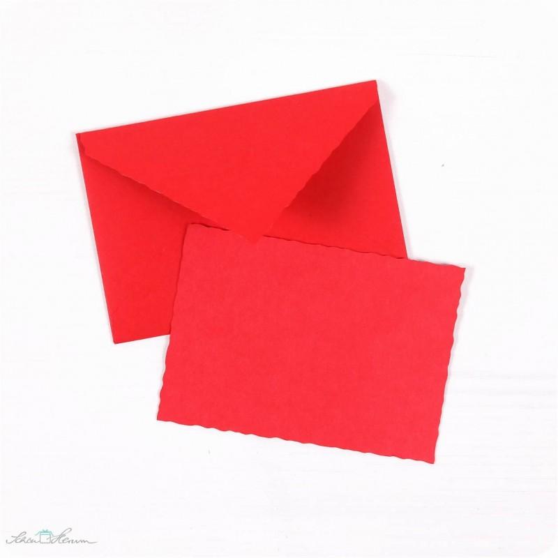 Karte  Umschlag  klein  feuerrot