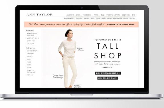 Ann Taylor tall Shop für große Frauen