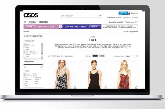 Asos Damen Tall Mode