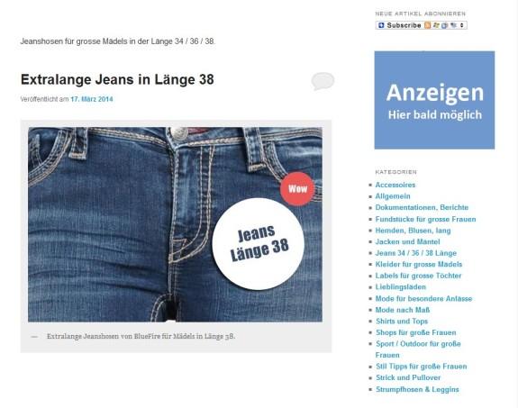 Werbung / Anzeigen auf Modeblog schalten