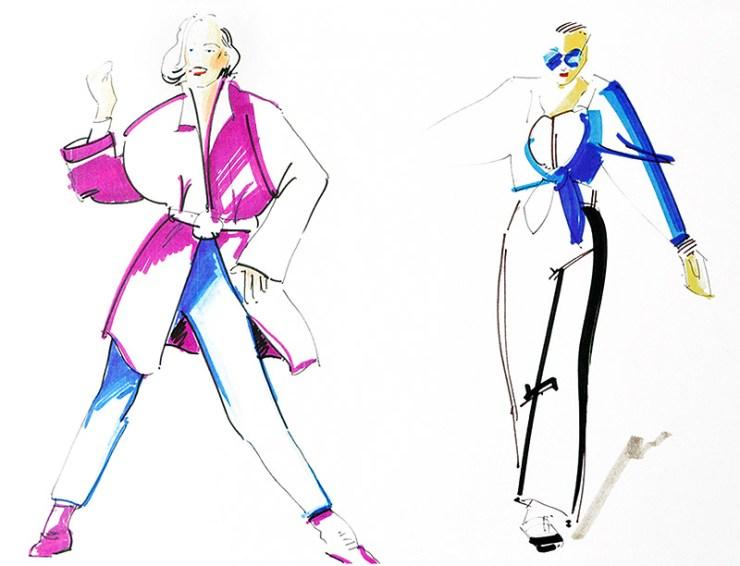 Modeskizze / Styling-Tipps für große Frauen / Tall Fashion