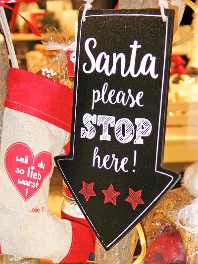 Santa please stop here!