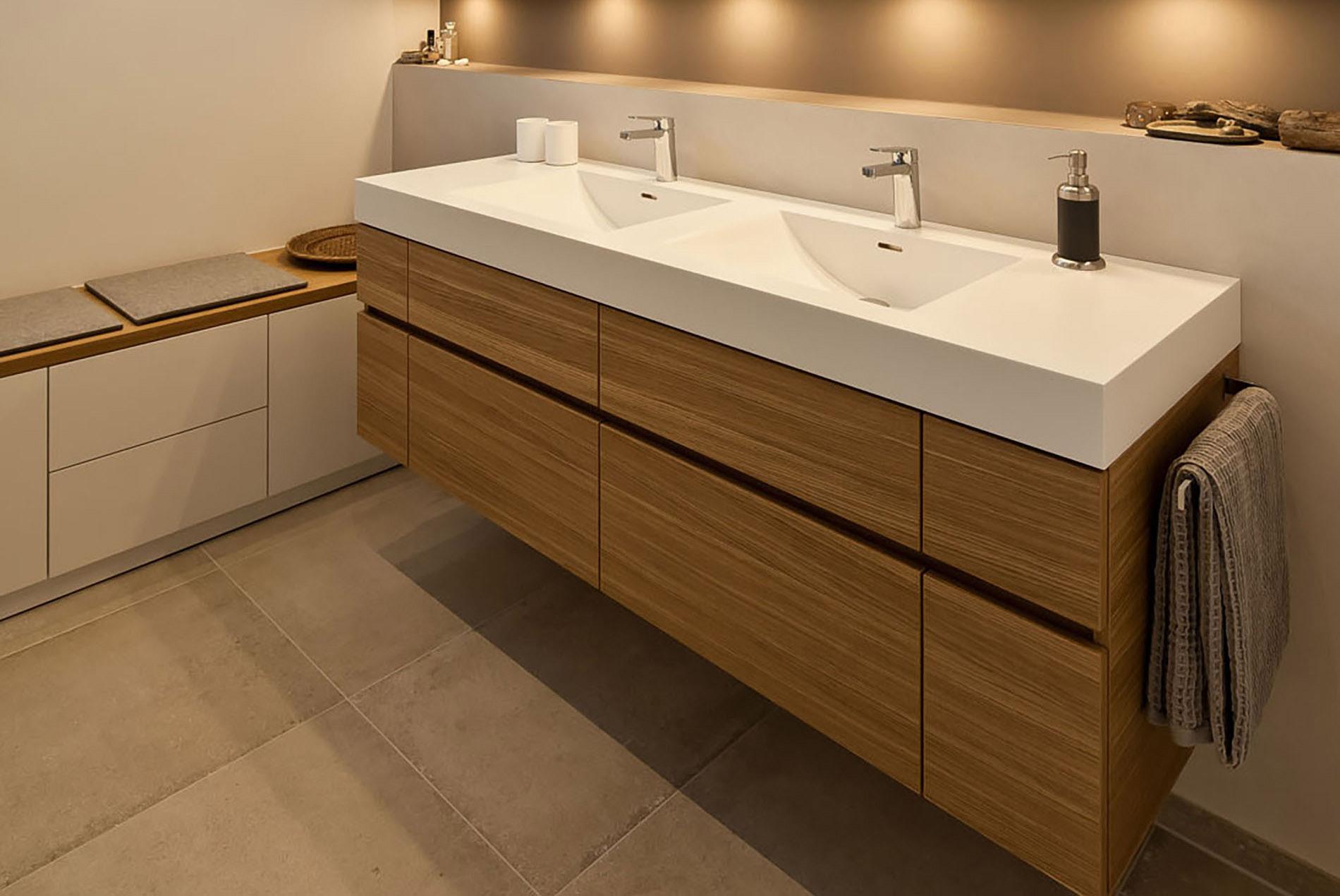 Badezimmer Doppelwaschtisch