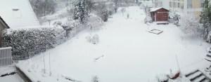 Unser Hausgarten mit SchneeUnser Hausgarten mit Schnee