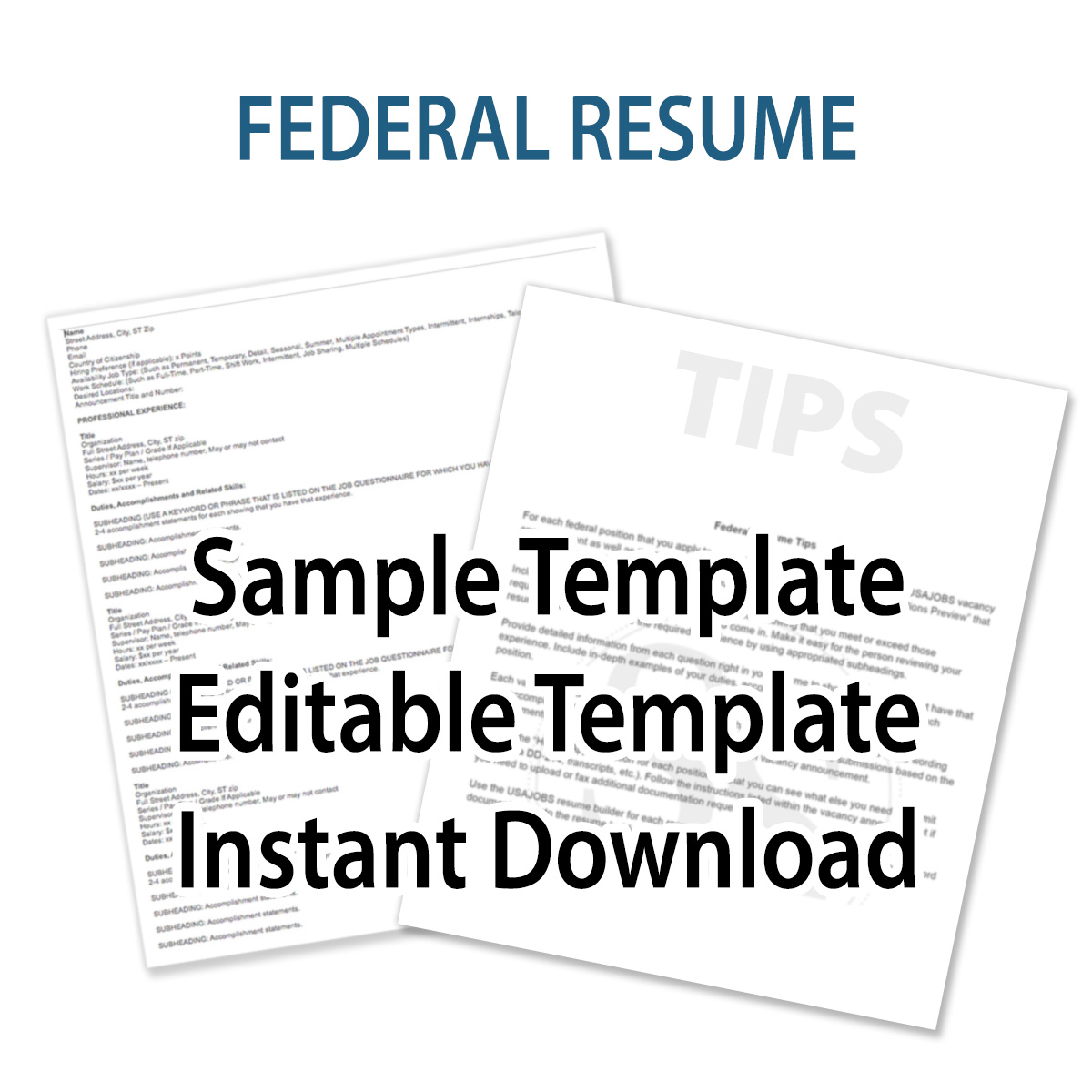 Federal Resume Template Federal Resume Template Schofield Strategies