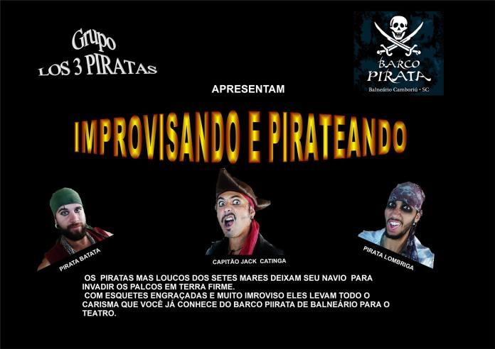 Teatro Municipal terá show gratuito com Los 3 Piratas nesta sexta-feira, SC Hoje News - Notícias de Balneário Camboriú