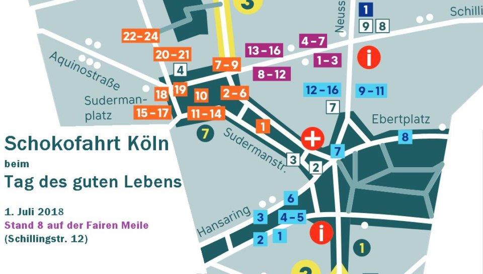 Schokofahrt beim Tag des guten Lebens am 1. Juli 2018 in Köln