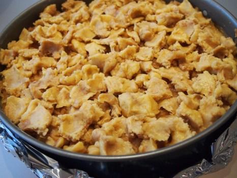 Ungebackener Karamell-Apfel-Cheesecake