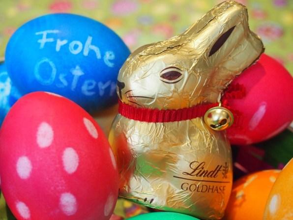 Der Goldhase darf an Ostern nicht fehlen :-)