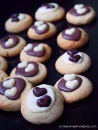 Schokolade in der Weihnachtsbäckerei
