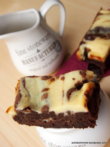 lecker, leckerer, Cheesecake-Brownies