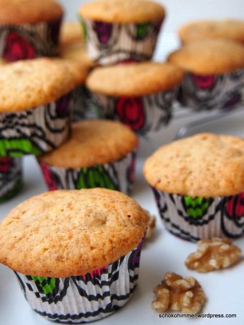 Muffin-Genuss mit griechischem Joghurt und Walnüssen