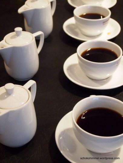 Kaffeeverkostung - schlürfen!