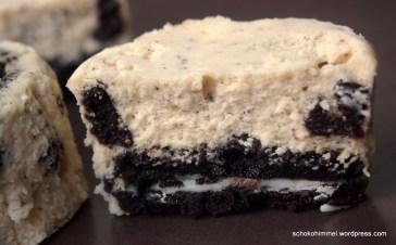 Köstliche Cookies and Cream Cheesecakes mit Oreo-Keksboden