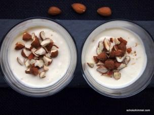 Marzipan-Dessert mit Orangen-Note