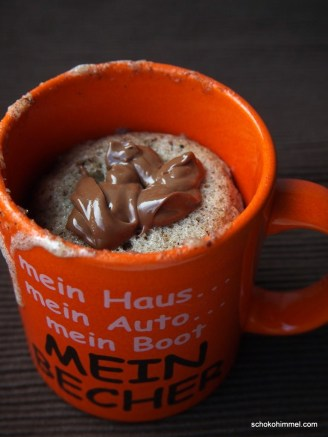 Nuss-Nougat-Tassenkuchen