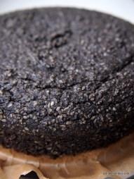 ungewöhnlich lecker: schwarzer Sesamkuchen