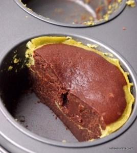 Cheesecake-Brownies mit Matcha