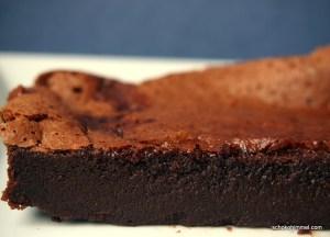 fudgy Brownies mit zwei Zutaten