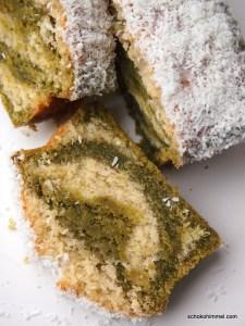 cremiger Kokos-Matcha-Kuchen