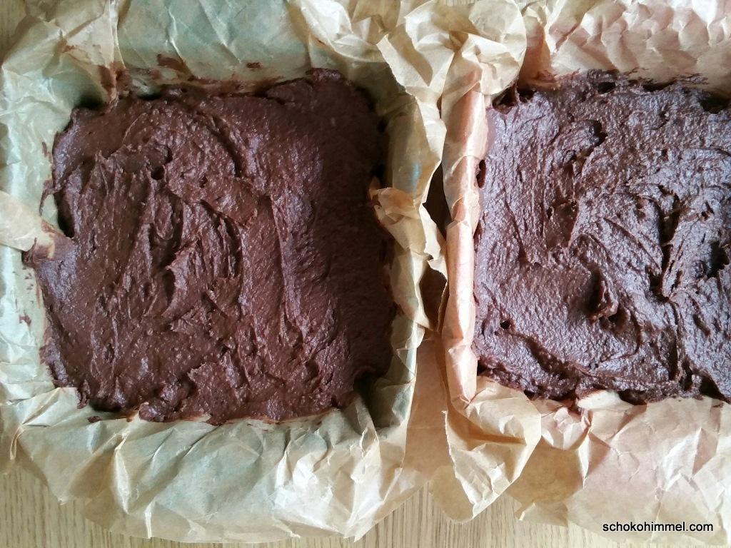 ungebackene Avocado-Brownies