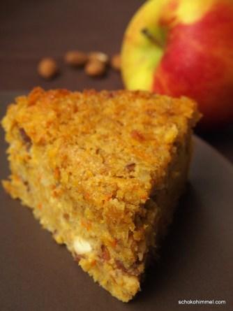 für den Herbst: Kürbiskuchen mit Apfel und Mandeln