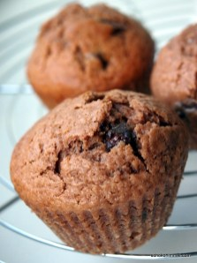 Nuss-Nougatcreme und Schokolade = köstlicher Muffin