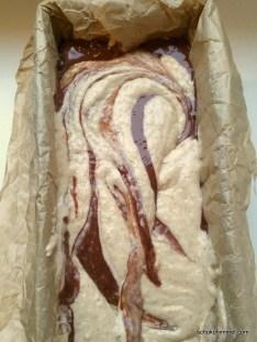 Marmorkuchen in der Mache