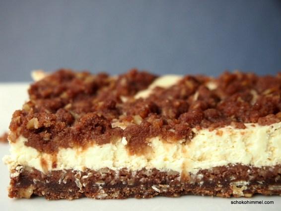 Orangen-Kakao-Streusel-Cheesecake