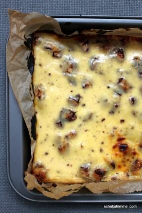 cremiger Cheesecake mit Keksboden