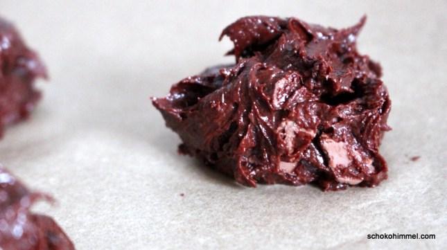 Teig für Schoko-Cookies