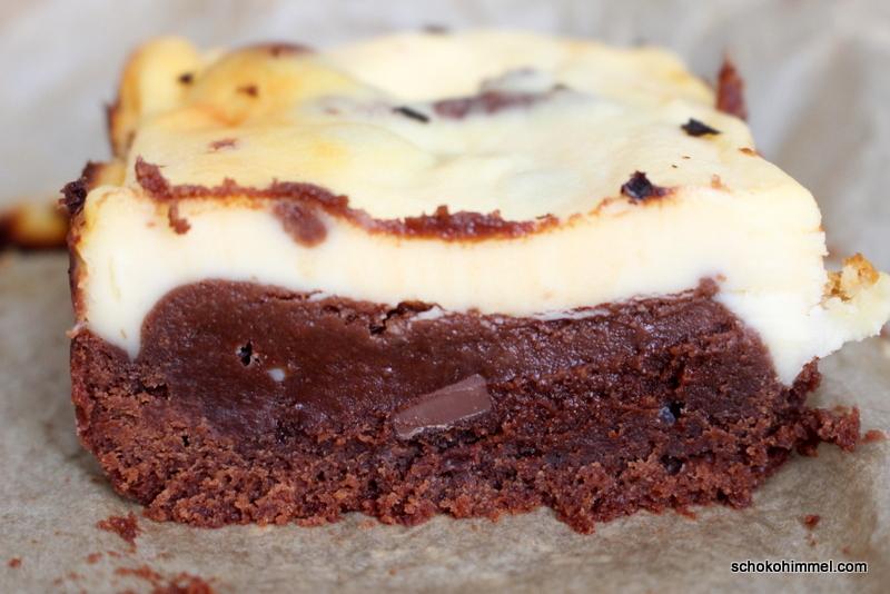 Supersüße White-Chocolate-Cheesecake-Brownies [eine andere Bezeichnung gibt es nicht]