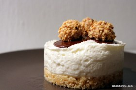 Keksboden, Cheesecake, Schoko-Giotto-Topping