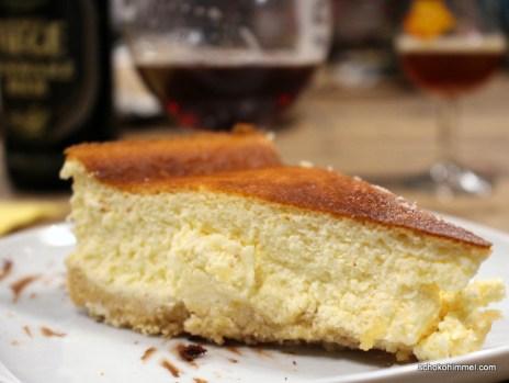 Jede Sunde Wert Cremiger Cheesecake Mit Loffelbiskuit Keksboden
