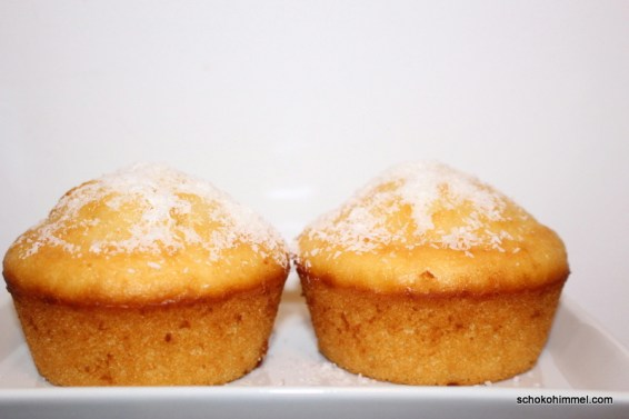 fluffige Kokos-Zitronen-Muffins
