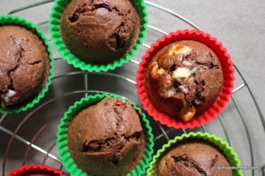Muffins mit kinder Schokolade