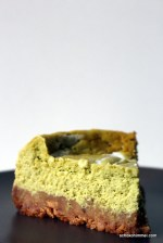 Cheesecake mit Grünteepulver