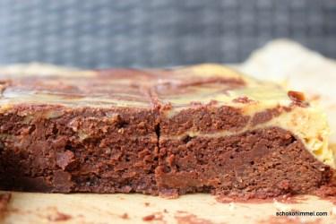 Brownies mit Kürbis-Cheesecake-Anteil