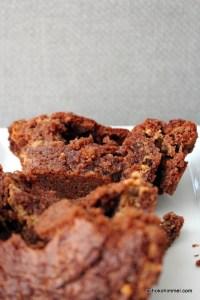 Brownies mit Spuren von Erdnussbutter
