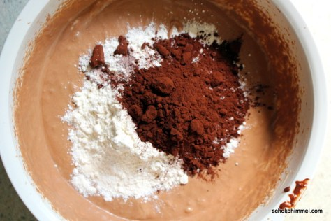 Teig für fudgy Brownies