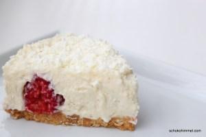 no bake-Cheesecake mit Himbeeren