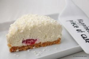Himbeer-Cheesecake mit Keksboden