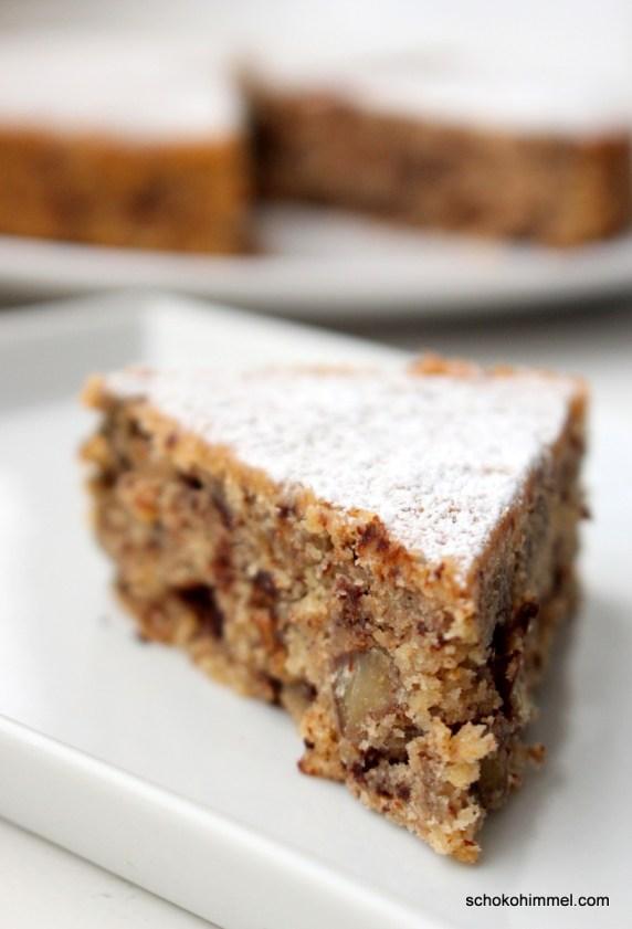 Maronen-Kuchen mit Schokolade