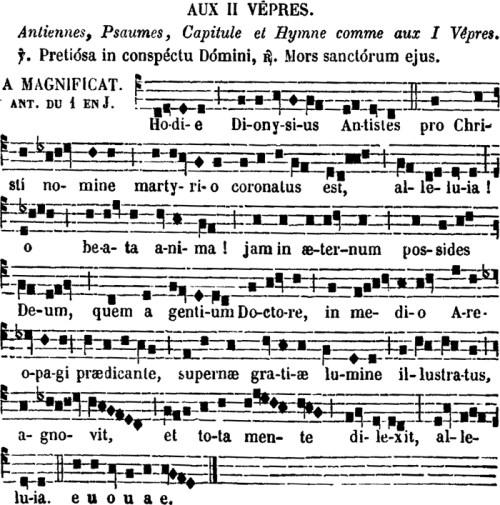 2ndes vêpres de saint Denys